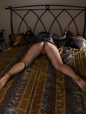 Alen in her thigh-high stockings ready to be dominated